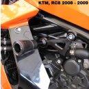 GBRacing Rahmenprotektor einzeln links KTM RC8 08-13...