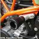 GBRacing Rahmenprotektoren SET oben KTM 990 Super Duke...